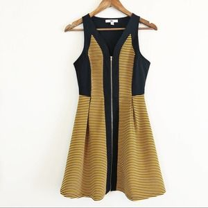 Ya Los Angeles zip front fit & flare dress small